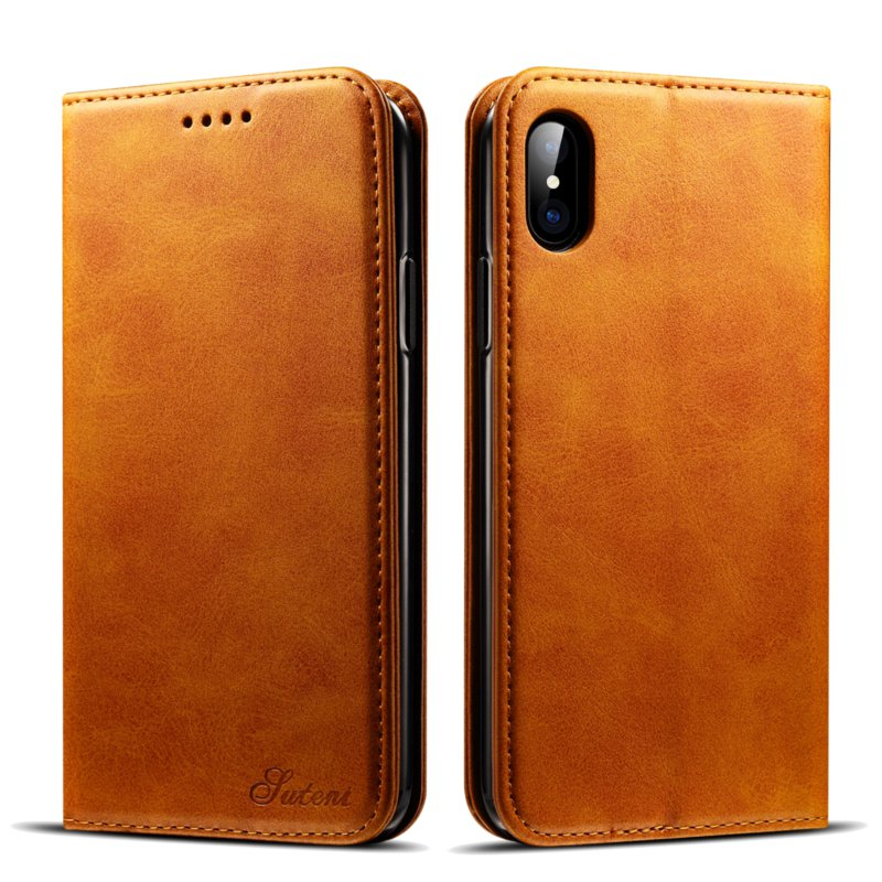 Bakeey Magnetic Flip Wallet Card Slot Case For iPhone X