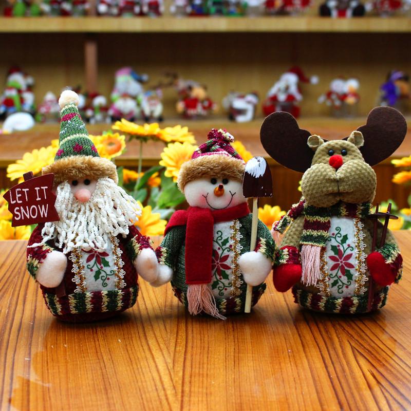 Christmas Gift Santa Claus Snowman Ornament Festival PartyTable Decor Doll