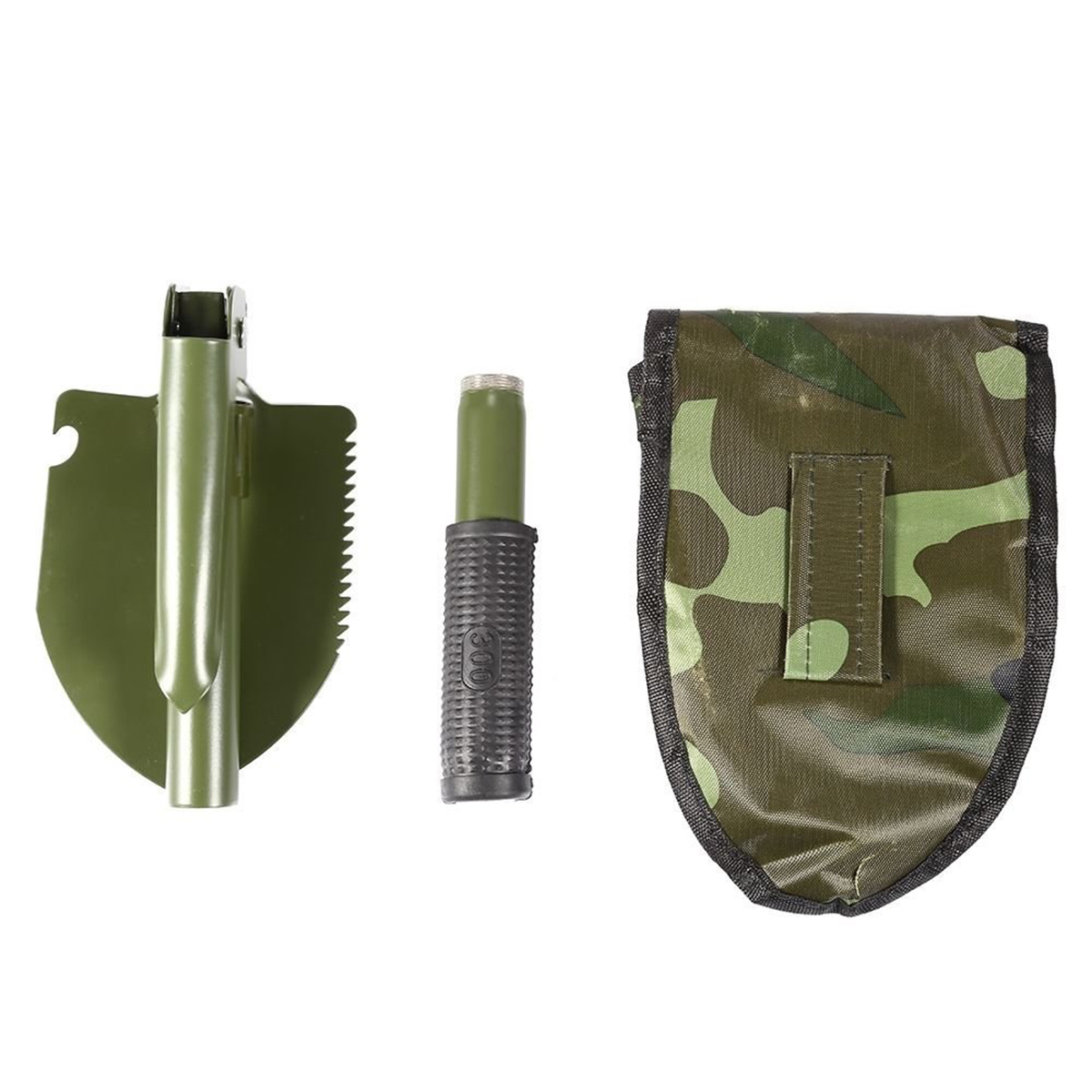 Camping Shovels Portable Folding Military Shovel with Compass Outdoor Survival Emergency Tool