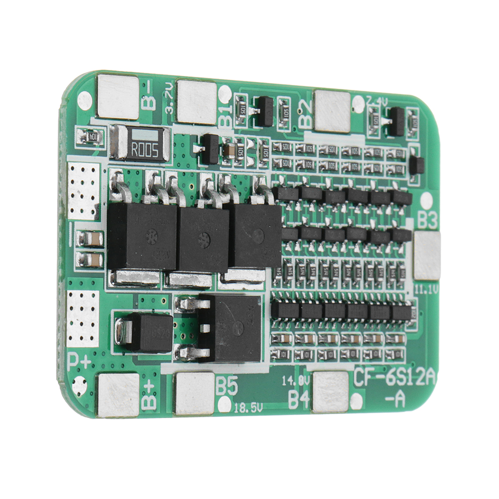 5pcs DC 24V 15A 6S PCB BMS Protection Board For Solar 18650 Li-ion Lithium Battery Module With Cell