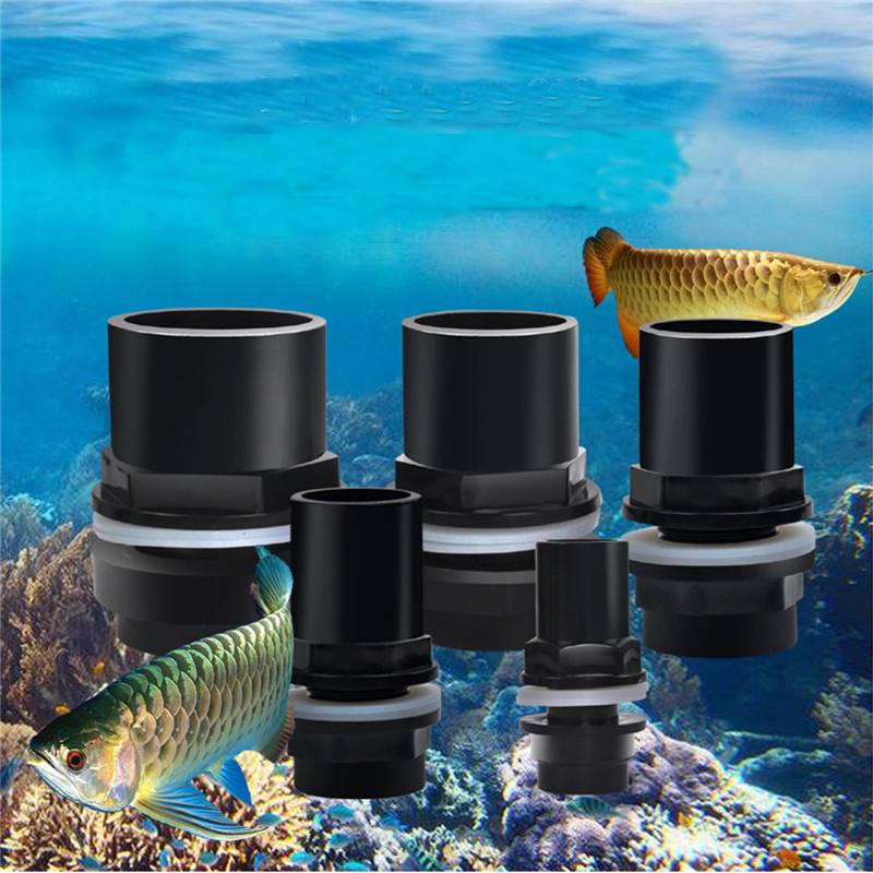 20-50mm Aquarium Straight Tank Connector PVC Waterproof Tube Pipe Joint Fish Adapter Fiting