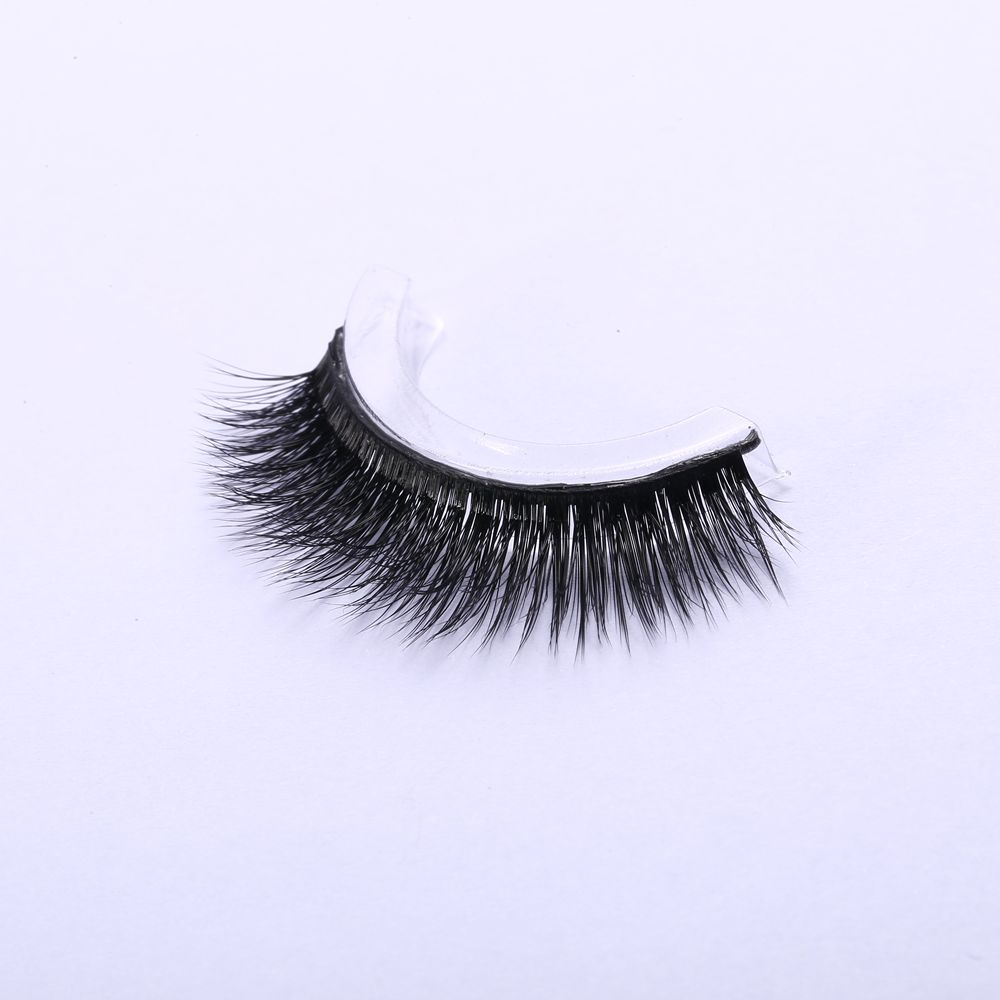 Self-adhesive Mink False Eyelashes Natural Curly Thick