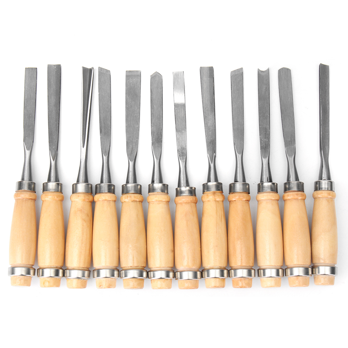 12pcs Wood Carving Hand Chisel Tool Set Professional Wood Working Gouges Steel