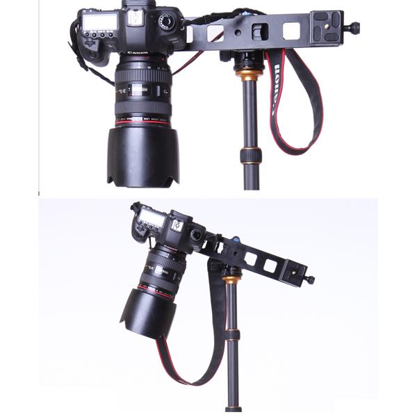 Lengthen Plate Double Head Universal Tripod Monopod Quick Release Plate Mini Slide for Canon Nikon