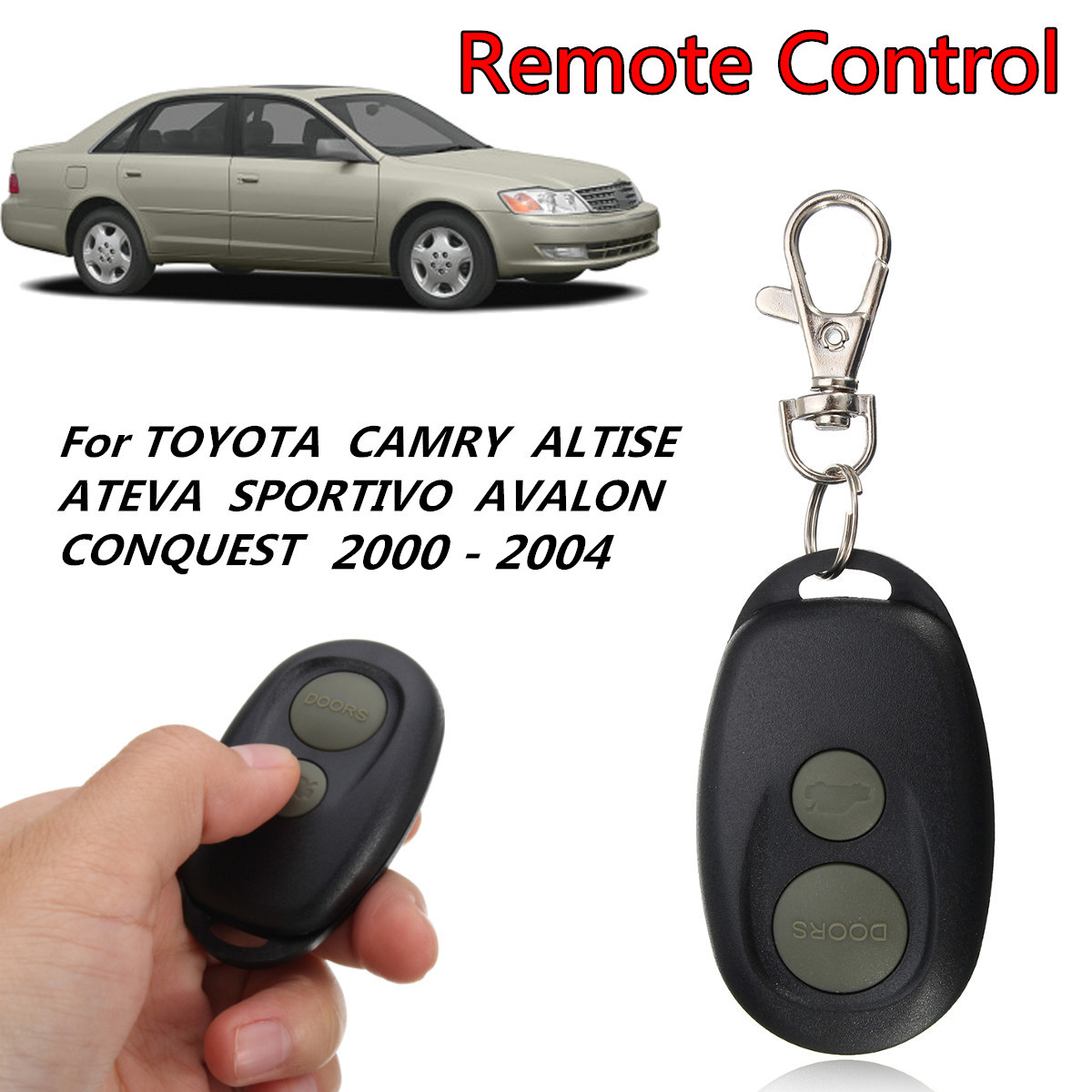 2 Buttons Car Keyless Entry Fob Remote Control Fit For Toyota Camry Avalon 00-06