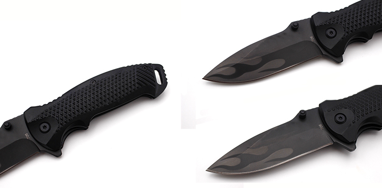 200mm 3CR13MOV Stainless Steel Blade Aluminum Alloy Handle Folding Knife Outdoor Survival Knife