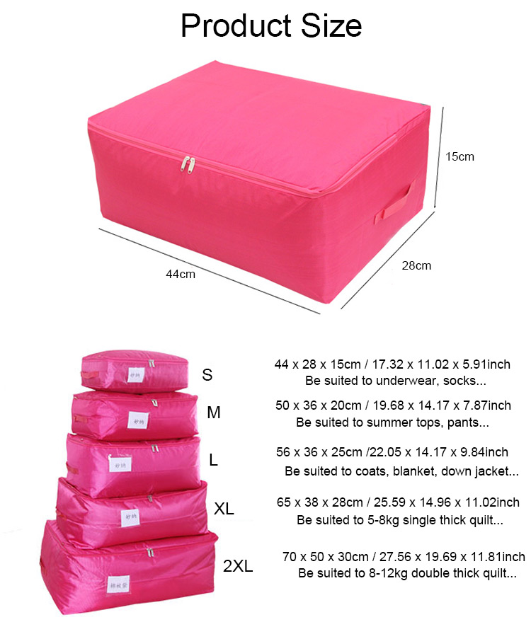 Honana HN-QB01 Clothes Storage Bags Beddings Blanket Organizer Storage Containers House Moving Bag Luggage organizers