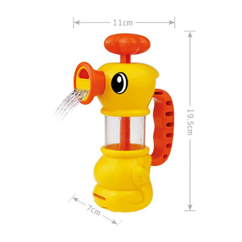 Cikoo Children Summer Bathing Water Manual Pumping Small Yellow Duck Cute Bath Toys