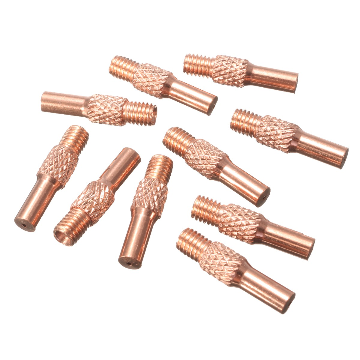 10pcs Welding Gun Contact Tips 0.8mm For MIG Spool Gun Push Pull Feeder Torch