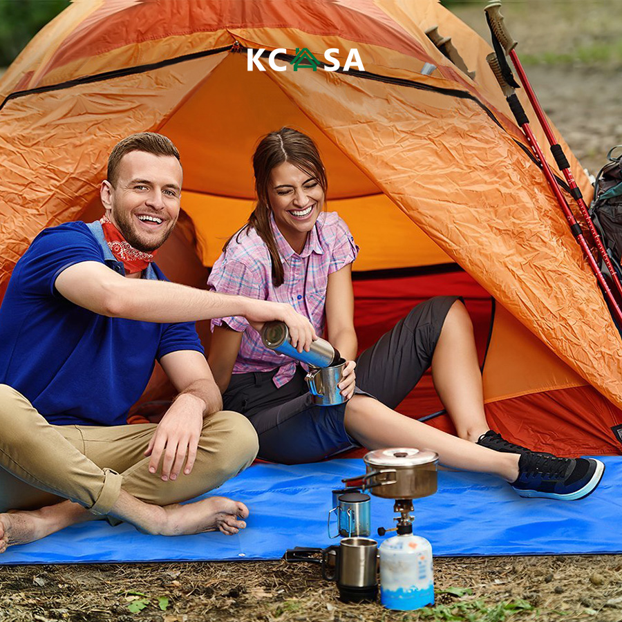 KCASA KC-RC042 3 in 1 Travel Waterproof Poncho Outdooors Rain Coat Shelter Camping Mat Backpack Cover