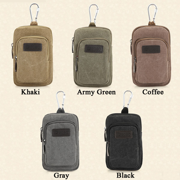 Canvas Leisure Durable Capacity Waist Bag Outdoor Sport Multifunction Shoulder Bag