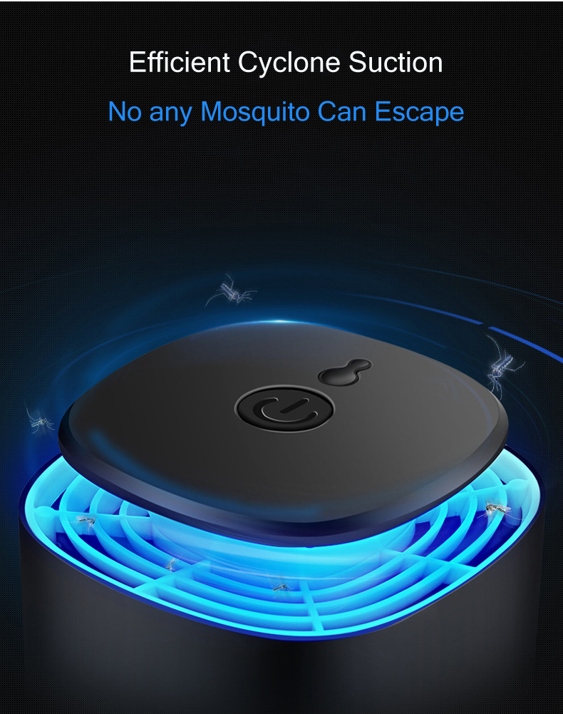 Loskii LM-909 Electronic UV Light Lamp Smart Light Control Switch Escape-proof Mesh Mosquito Repellent Catcher