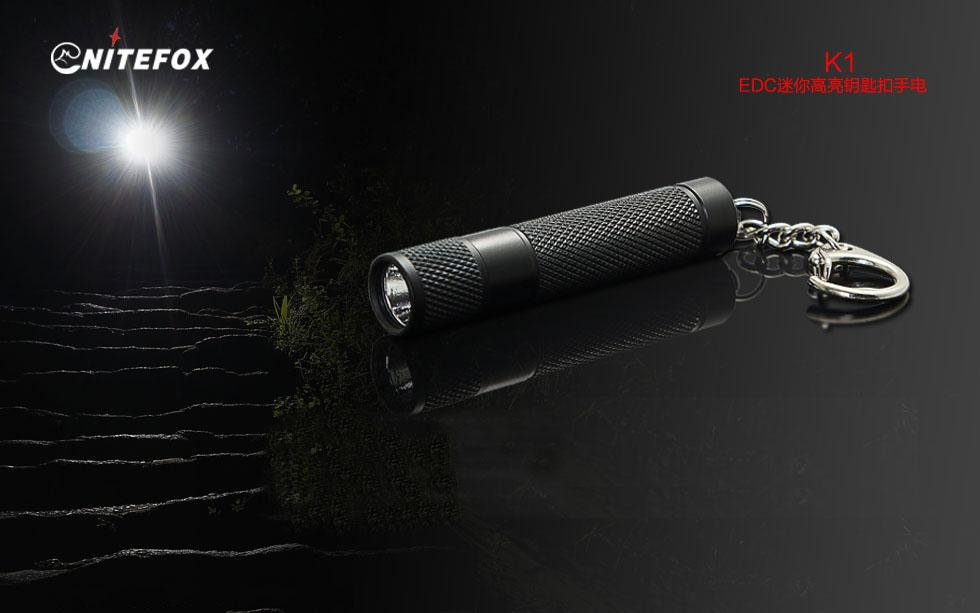 NiteFox K1 XP-G2 60Lumens Single Mode Outdoor Portable EDC LED Flashlight Keychain Light AAA