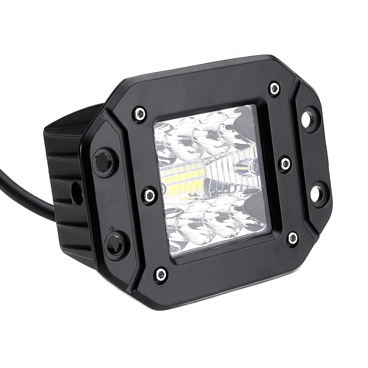 5Inch Flush Mount LED Work Light Pods Combo Beam IP68 9-32V 48W 2400LM 6500K 1PCS