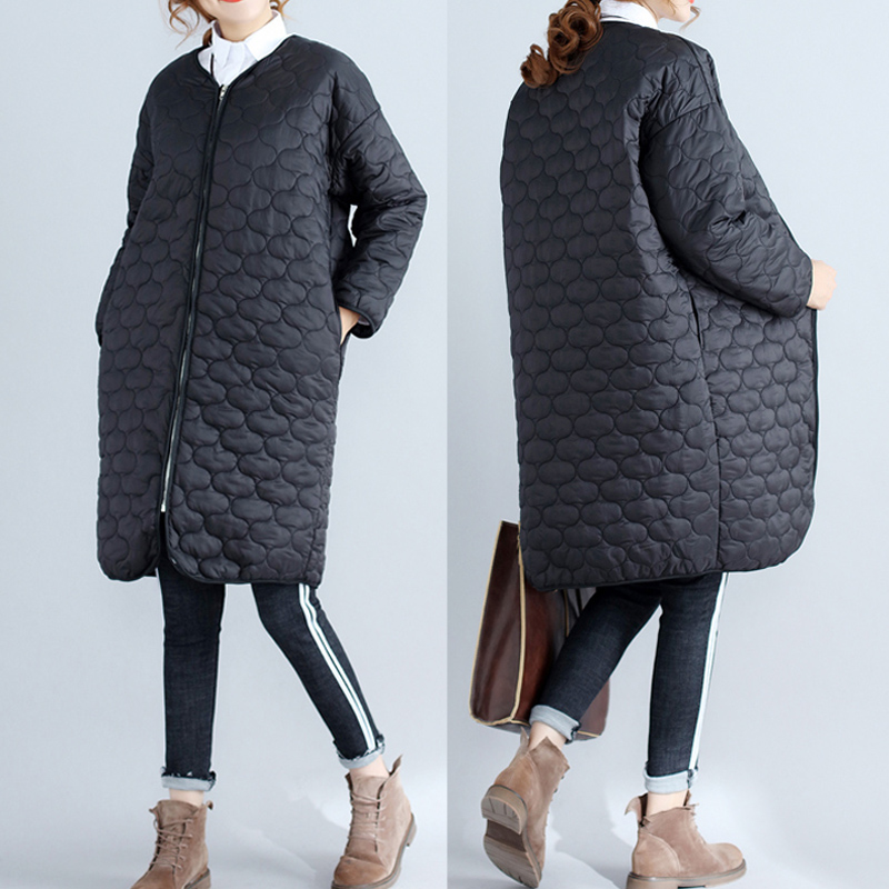 Women Long Sleeve Straight Quilted Jacket