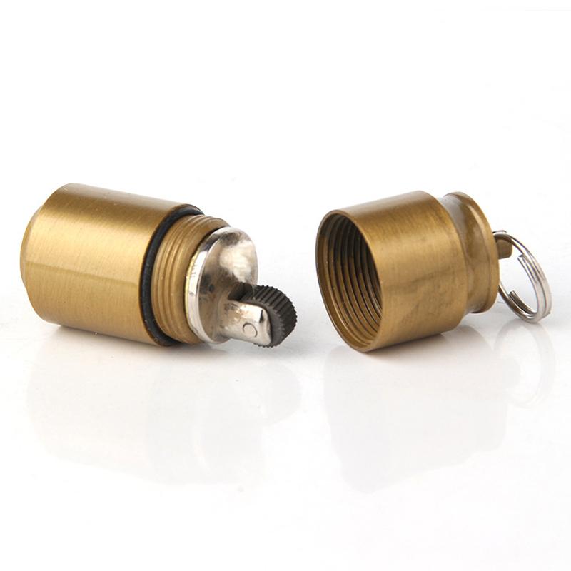 DOLPHIN HY653 Metal Portable Kerosene Lighter Keychain Outdoor EDC Mini Can Shape Oil Lighter