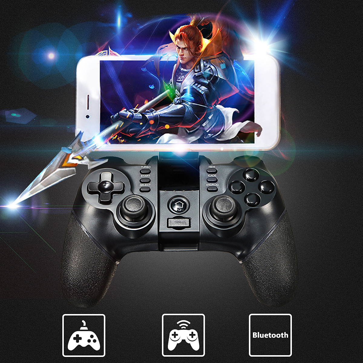 iPega PG-9076 Gaming bluetooth 2.4G Wireless Wired Controller Gamepad Joystick For PS3 Android Phone Tablet PC Laptop