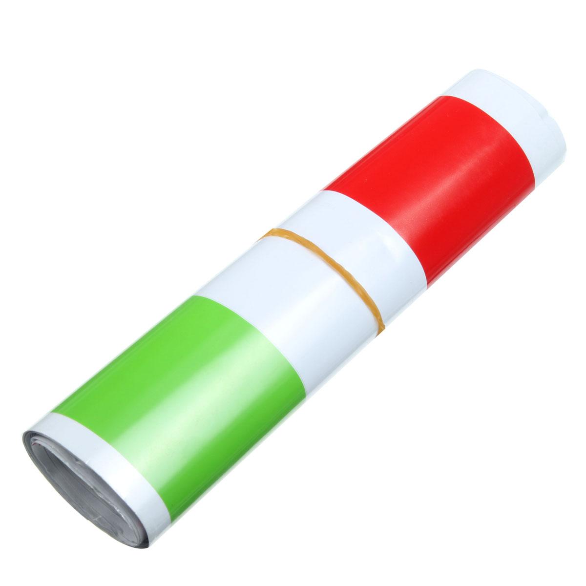 1.2m Italian Flag Style Stripes Stickers Auto Vehicle Hood Bumper Vinyl Decals