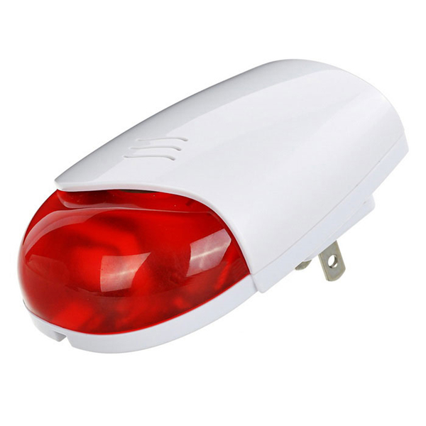 433MHz Wireless Alarm Siren with Red Light and 110dB Alarm Sound for Security Alarm System