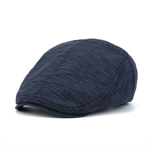 Men Cotton Solid Beret Hat Casual Sunshade Painter Caps Flat Sun Hat Adjustable