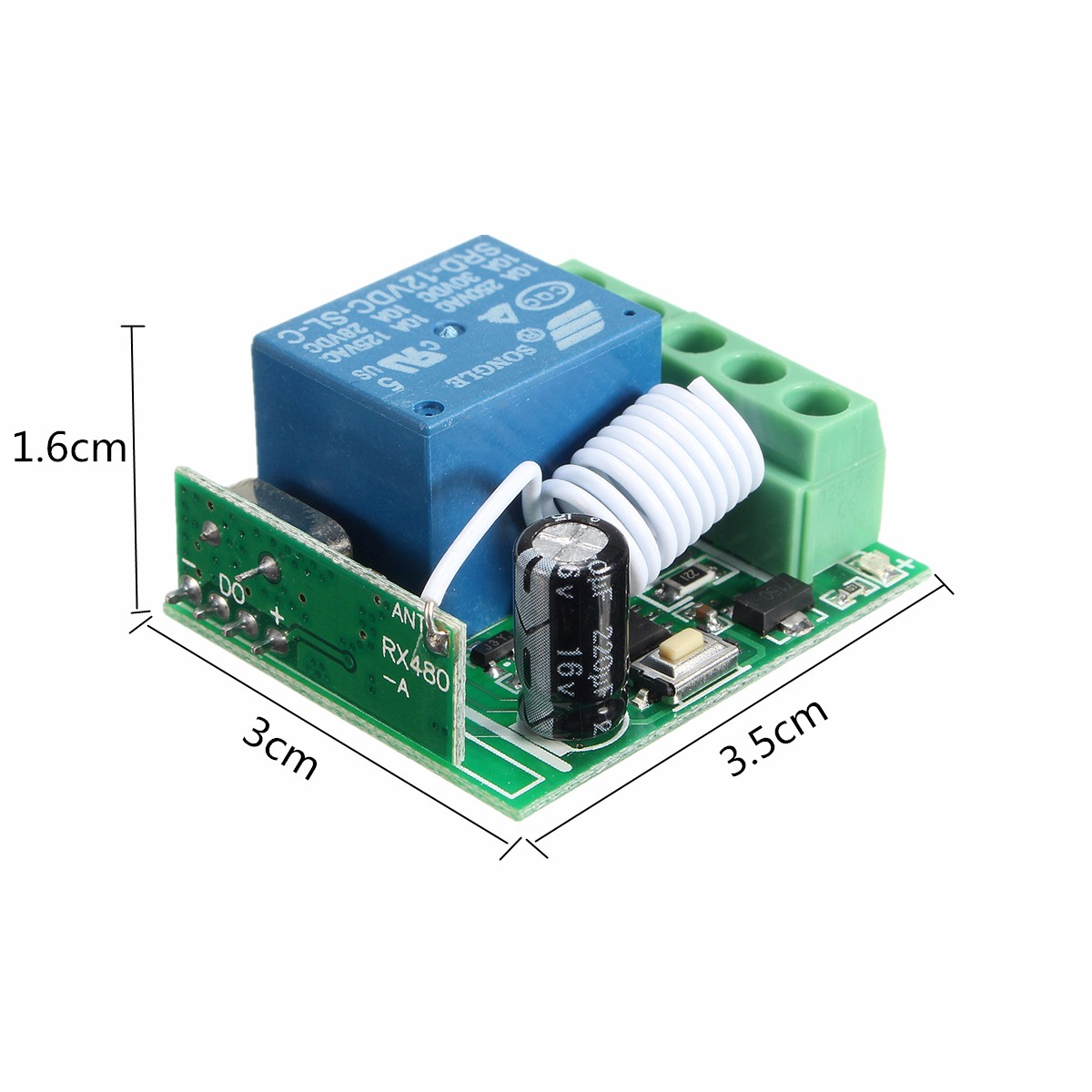 Dc 12v 10a 1ch 433mhz Relay Wireless Rf Remote Control Switch Receiver Module 12 Volt Transmitter Schematic With