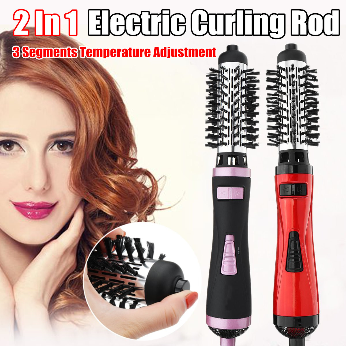 SURKER 2 in 1 Automatic Rotating Hair Curlers Roller Styler