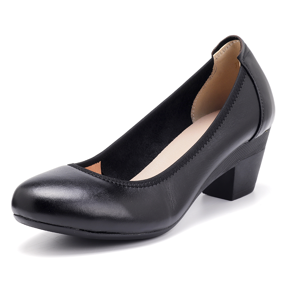 SOCOFY Soft Comfortable Casual Leather Pumps