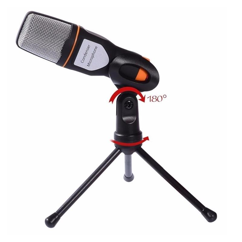 Universal Noise Cancelling HD 3.5mm Microphone with Tripod Stand for Xiaomi iPhone Samsung PC Laptop
