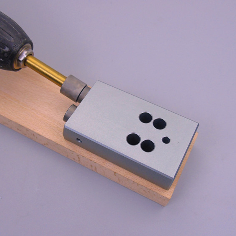 Oblique Hole Locator Kit with 9.5mm Drill Bit Pocket Hole Jig Tool