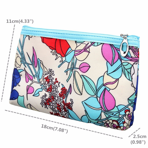 Waterproof Makeup Bag Zipper Cosmetic Wash Bags Organizer Polyester Container