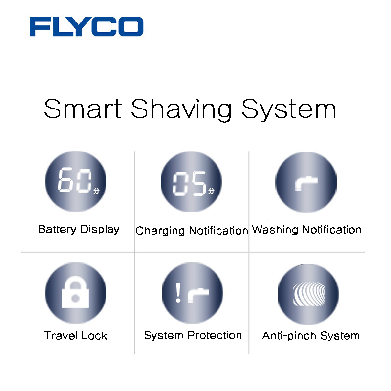 Flyco® FS390 Global Voltage Waterproof Electric Shaver Razor Beard Shaping Kit Men Rechargeable