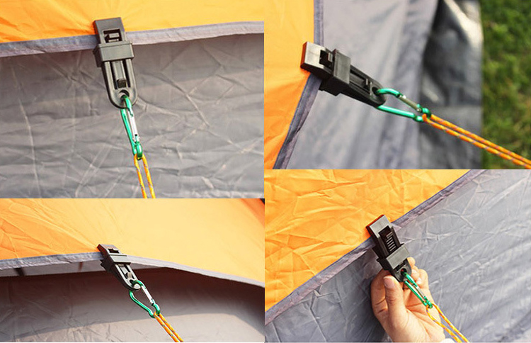 Outdoor Tent Awning Canopy Windshield Plastic Clip Buckle Wind Rope Fixing Accessories