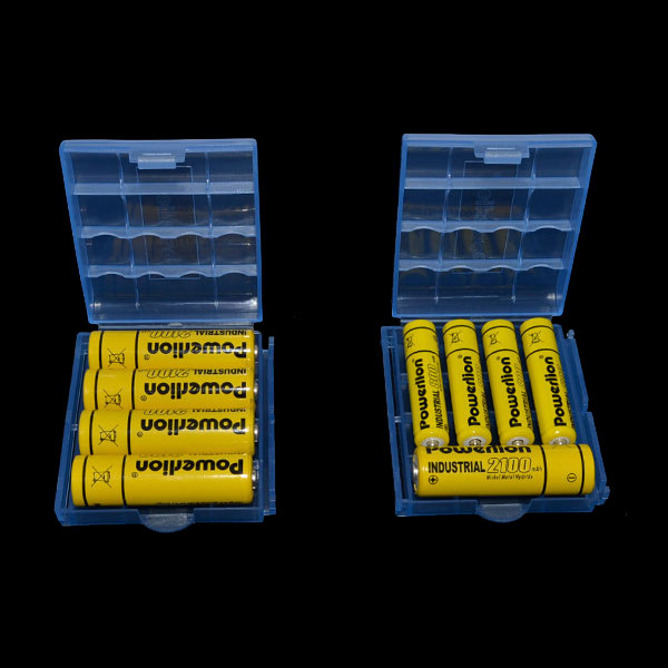 Powerlion PL-B5742 Clear AA AAA Battery Storage Box Case