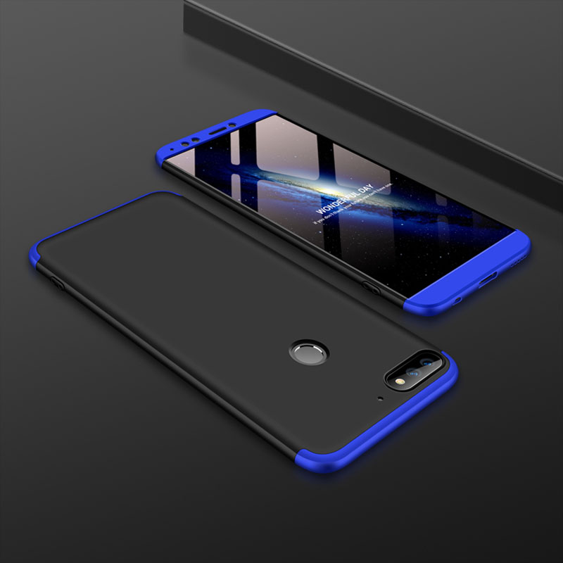 Bakeey™ 3 in 1 Double Dip 360° Hard PC Full Protective Case For Huawei Y7 Prime 2018 / Huawe Enjoy 8