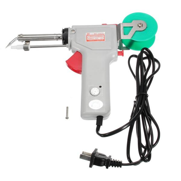 GJ MT-942C 220V 60W Temperature Adjustable Single Automatic Send Tin Electric Heating Soldering Iron Gun