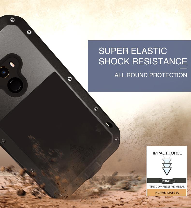 LOVE MEI Waterproof Shockproof 3 Proofing Full Body Aluminum Protective Case For Xiaomi Mi MIX 2
