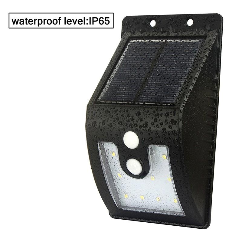 3 in 1 Function Solar Power Motion Sensor LED Light Garden Yard Corridor Waterproof IP65 Wall Lamp