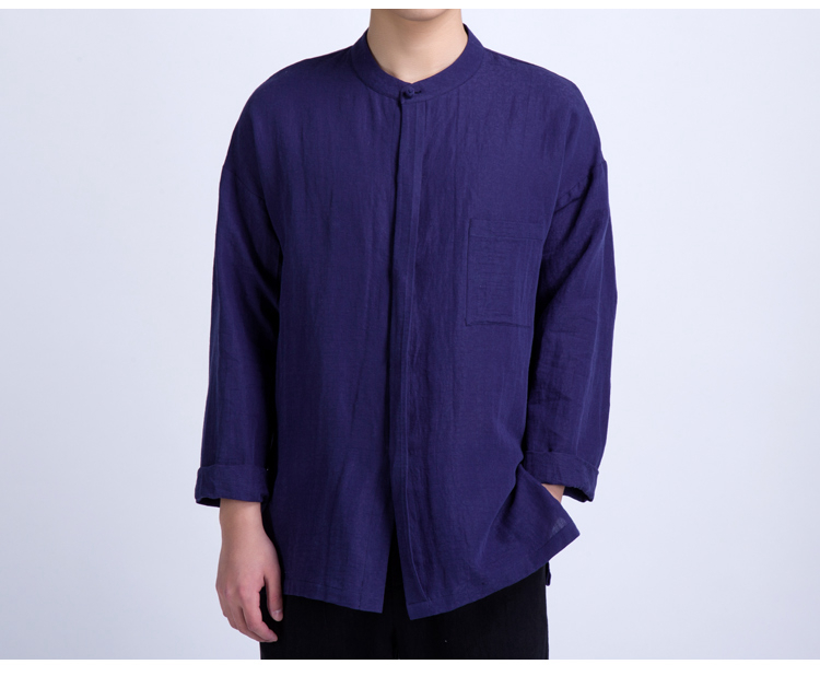 Minimalist Chinese Style Linen Vintage Casual Loose Shirts