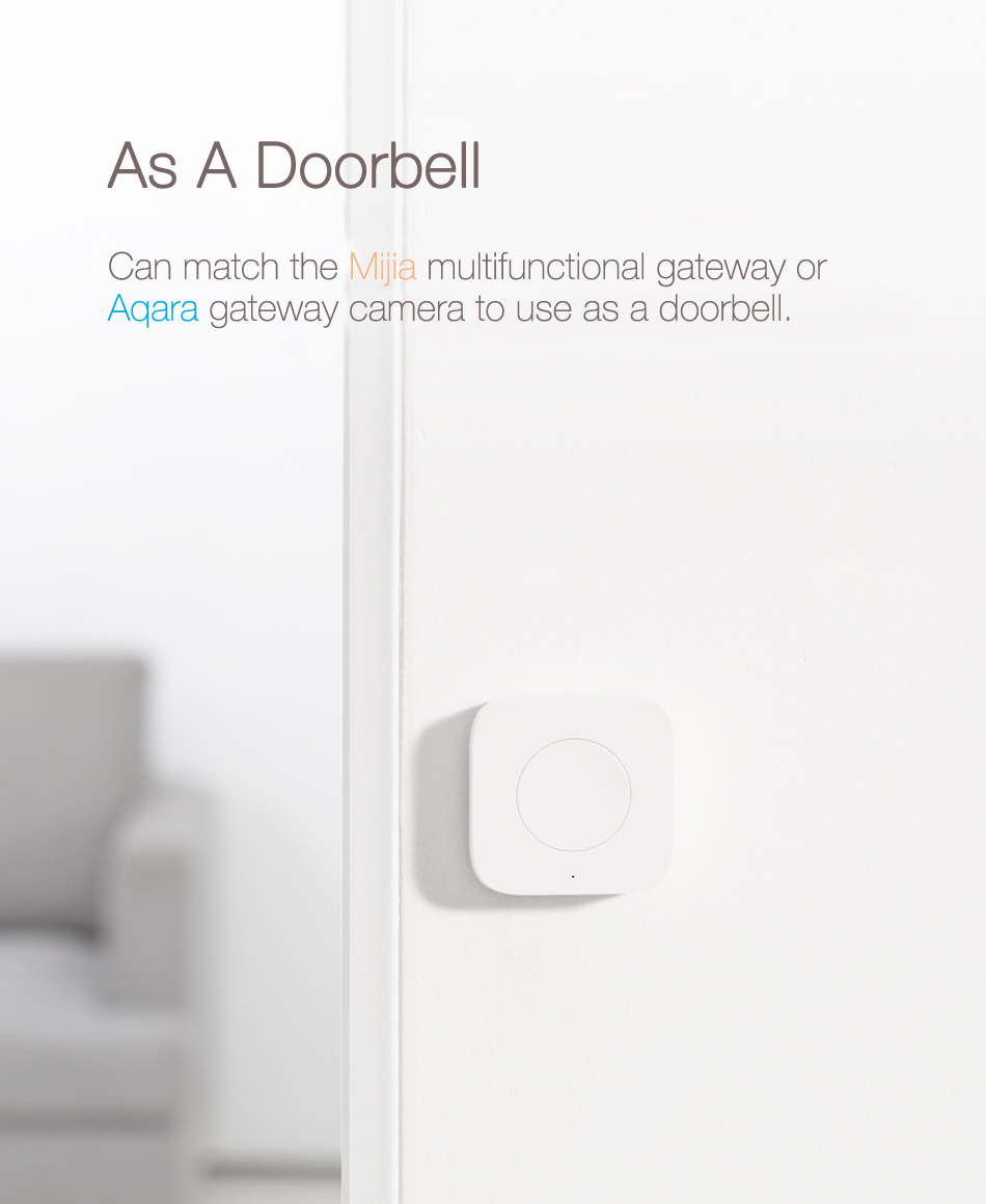 Original Xiaomi Aqara Gyroscope Upgrade Version Wireless Switch Xiaomi Smart Home Remote Control Swtich