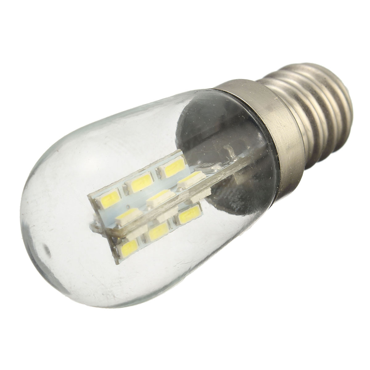E12 2W 24 SMD 3014 LED Pure White Warm White Bed Lamp Light Bulb AC220V