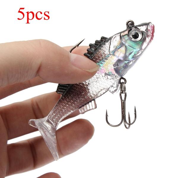 ZANLURE 5pcs 7.6cm 15g Paillette Fishing Lures Soft Lure Crankbaits Tackle Hooks