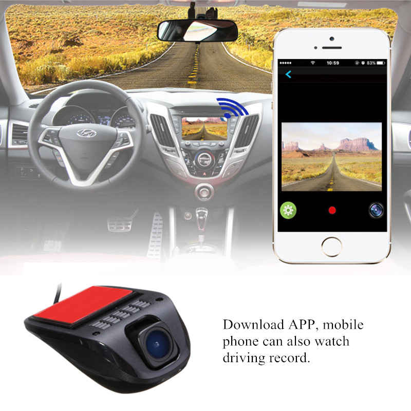 1080P HD Hidden Wifi USB Car SUV DVR Dash Video Recorder Camera G-Sensor 170 Degree