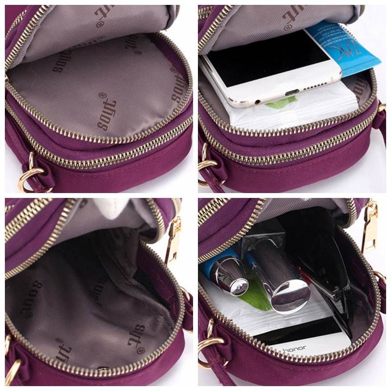 Women Nylon Waterproof Portable Phone Bag