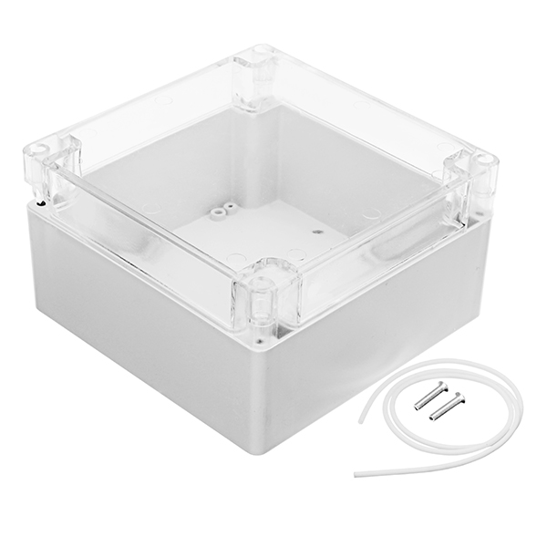 160 x 160 x 90mm DIY Plastic Waterproof Housing Transparent Cover Junction Case Power Supply Box Sealed Instrument Case