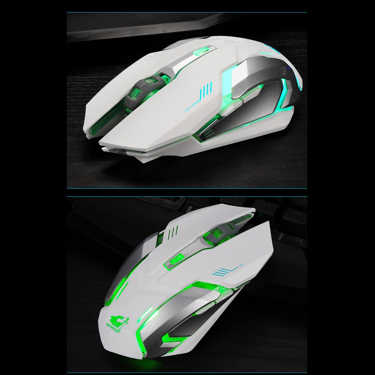 Rechargeable Wireless 1600DPI 7 Colors 5 Buttons Backlight Ergonomics Optical Gaming Mouse