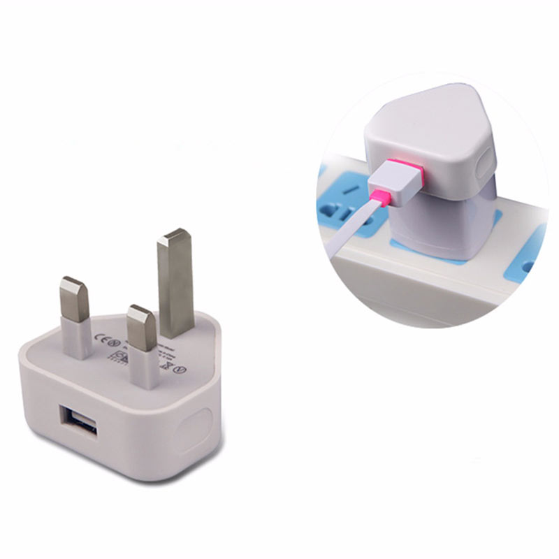 UK Home Wall 3 Pin USB Plug Power Adaptor Charger For iPhone 6S Plus Cell Phone Tablet