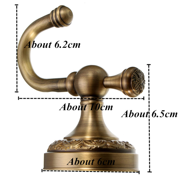 European Antique Bronze Ceramic Robe Cloth Coat Hook for Home Office Decoration