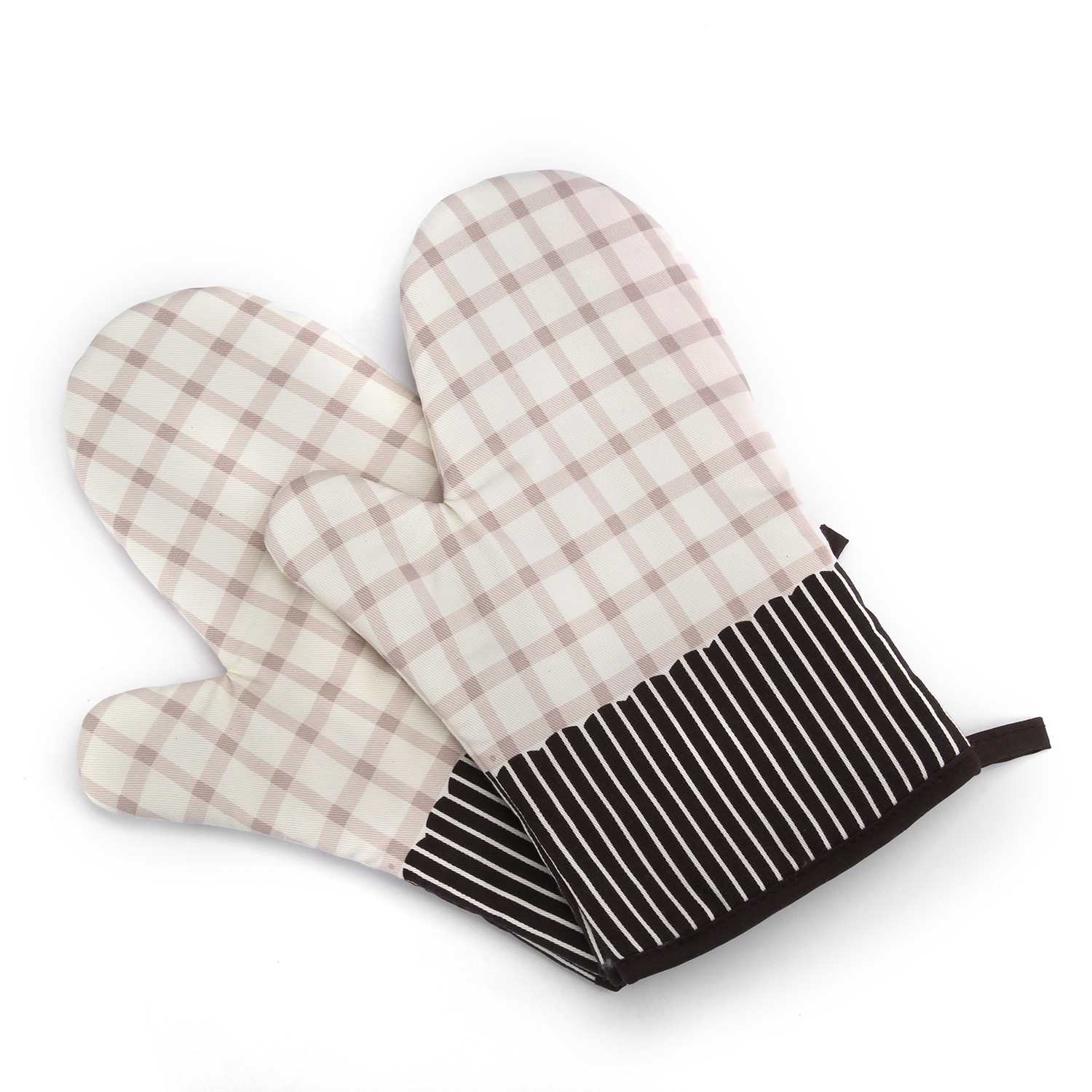 KCASA KC-PG03 1Pcs Cotton Oven Mitts Microwave Oven Kitchen BBQ Heat Resistant Pot Holder Gloves