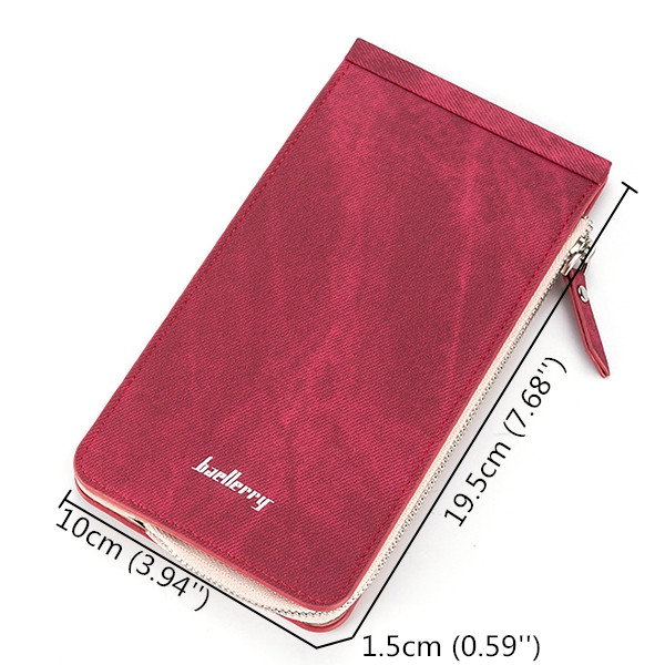Women Men 26 Card Slots Zipper Purse Leisure Long Wallet