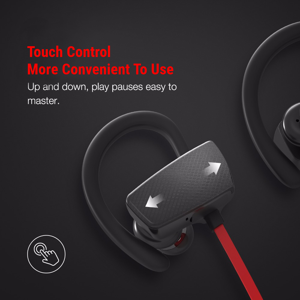 M37 Touch Control IPX4 Waterproof bluetooth Earphone Headphone With Mic Heavy Bass Noise Cancelling